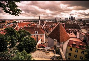 View over Tallinn by Patual