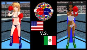WWBL Round 1: America vs Mexico by YuukiMMD