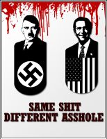 Hilter vs Bush by DoctorSatan