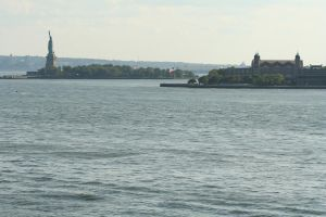 Liberty and Ellis Island by hyannah77-stock