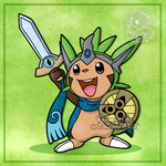 Chespin the knight by Veemonsito