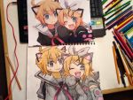 Rin and Len Kagamine-Nyaa~ by coolapril