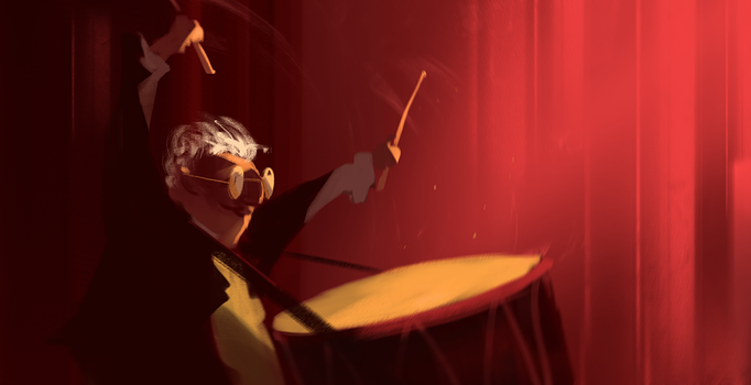 Crazy drummer by UlricLeprovost