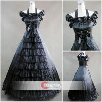 Lace Ruffled Classic Gothic Lolita Dress by wendywei2012
