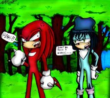AT: Lio and Knuckles by GreenBlood12354