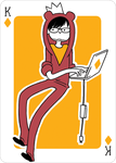 Adventure Time Style Zach - King of Diamonds by catiniata
