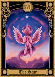Pony Tarot Cards: Twilight Sparkle as the Star by SouthParkTaoist