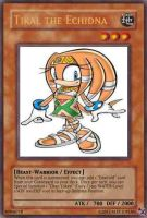 Tikal the Echidna card by A5L
