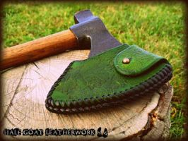 Woodland Axe sheath by Half-Goat