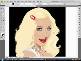 Chistina Aguilera unfinished by KendraLaRose