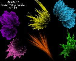 A3D Fractal Wings Set 9 by angela3d