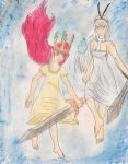 Child of Light Aurora and Norah by kingofthedededes73