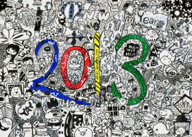Doodle: Happy New Year 2013 by VSCiel
