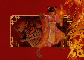 chinese year of the tiger yukina kung fu girl by Rijio
