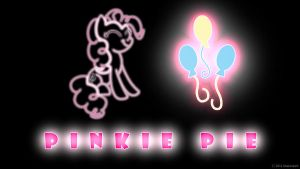 Pinkie Pie Glow Wallpaper by nsaiuvqart