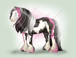 Black +Pink Vanner Commission by NoodleMutt