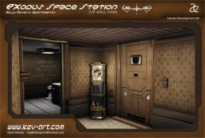 Exodus Space Station: Soju Rivers Apartments 1/3 by KevinMassey