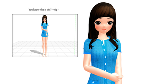 [MMD] You Know Who is She [wip] by LoverCathy