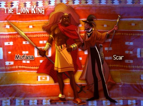 Lion King: Scar and Mufasa by FablePaint