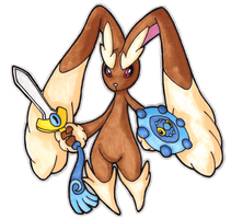 Lopunny's Shield and Sword by Lornext