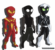 Spiderman outfits by toongrowner
