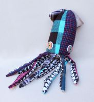 Plush Squid from Recycled Clothes by Madelei