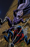 The Glyph and Spider-Man 2099 Team-up By Chachaman by Estonius