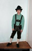 Bavarian Boy in Lederhosen - Sneak Preview by DamselStock