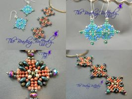Aztec Sun Pendant or Earring Tutorial Twin or Duo by beadg1rl