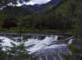 The Tumwater Dam by TRunna