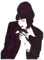 Mia Wallace - red lips by nunofrias