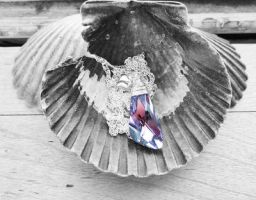 Swarovski VL Wing Crystal Wire Wrapped Necklace by crystaland