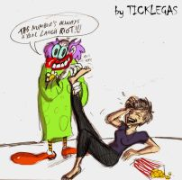 Clowny tickling by ticklegas