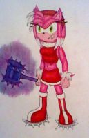 Werehog Amy Rose by GothNebula