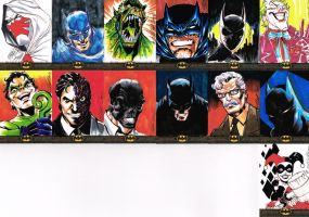 BATMAN: THE LEGEND SKETCH CARDS 3 by jerkmonger