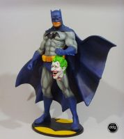 Batman and Joker head - Blue by ddgcom