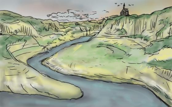 Landscape speed drawing by vancouverpeewee