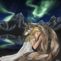 Wolf And Goddess by PineapplesHaveFeet