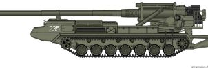 "203mm SPG 2S7 ""Pion"" by T0RYU"