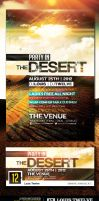 Party in the Desert | Flyer + Facebook Cover by LouisTwelve-Design