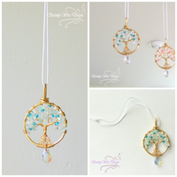 Blue Aquamarine's Glowing Charm by SerenityWireDesigns