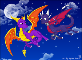Midnight Flight.. by Ag3nt-Sparx