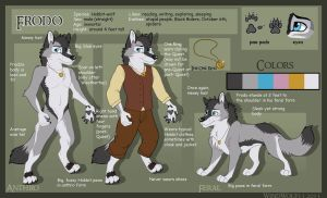 Frodo Anthro and Feral Character Sheet by WindWo1f