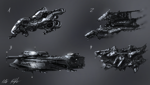 Spaceship Designs #1 by PeterPrime