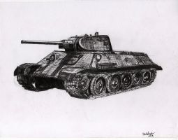 T-34 medium tank by shank117