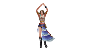 MMD Newcomer - Yuna FFX-2 Dissidia Outfit by Xeno-Fan-Jinusa