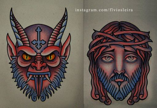 demon and god by FraH