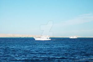 boat in the sea 2 by miralkhan