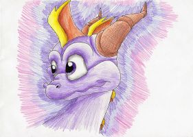 Spyro and his cute head by IcelectricSpyro