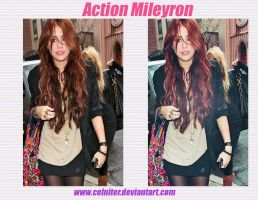 action Mileyron by celniter